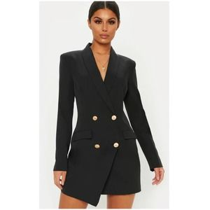 PrettyLittleThing Double Breasted Blazer Dress, 4